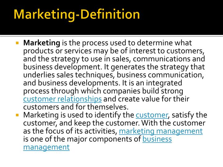 Marketing definition