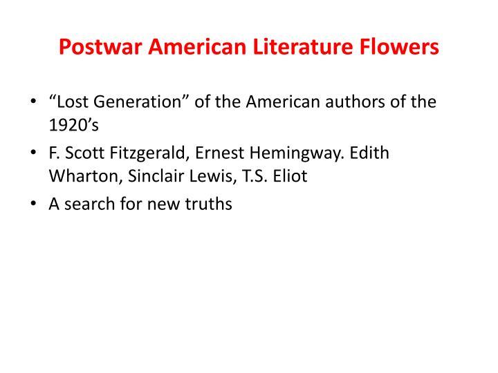 Postwar American Literature Flowers