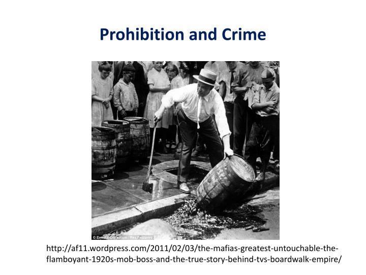 Prohibition and Crime