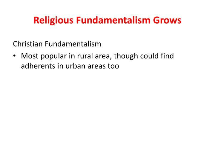 Religious Fundamentalism Grows