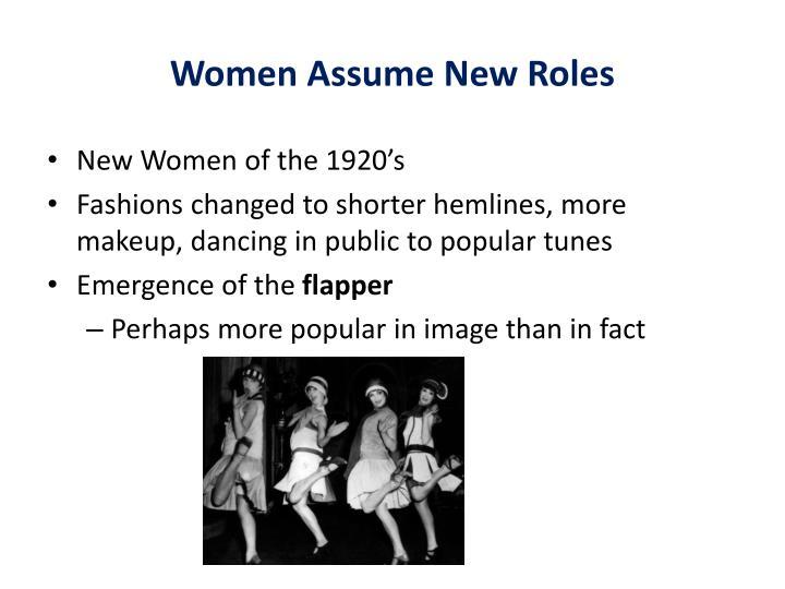 Women Assume New Roles
