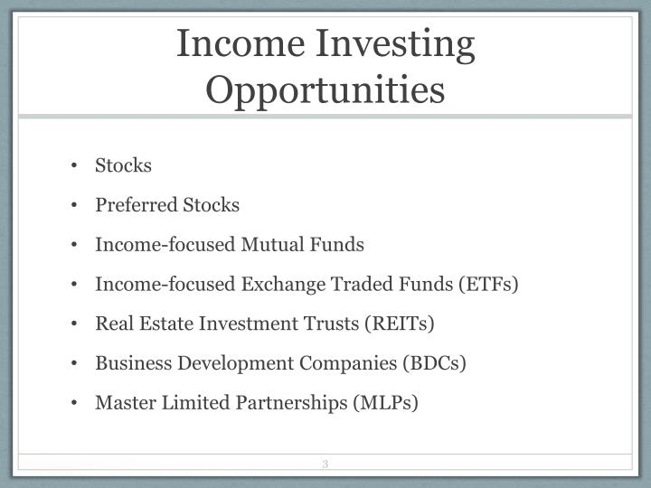 Income Investing Opportunities
