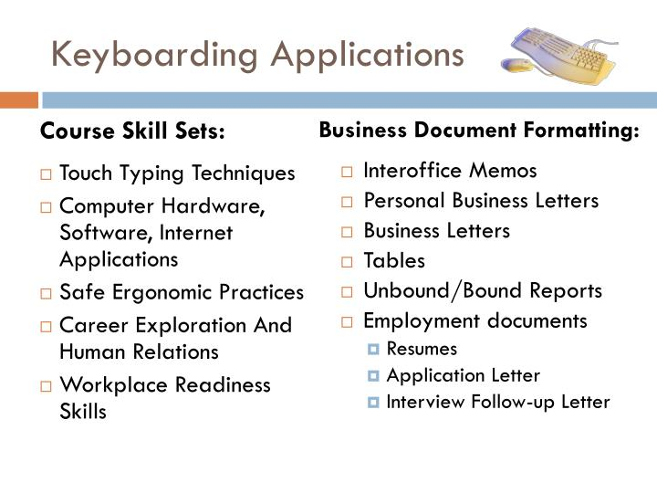 Keyboarding Applications