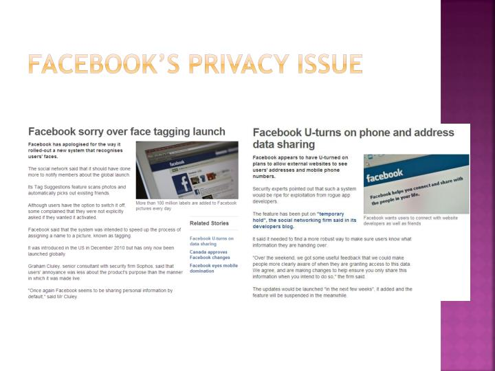 Facebook's privacy issue