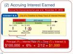 2 accruing interest earned