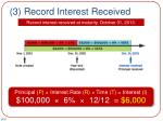3 record interest received
