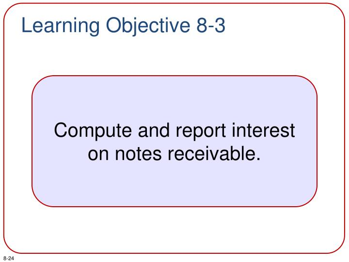 Learning Objective 8-3
