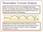 receivables turnover analysis