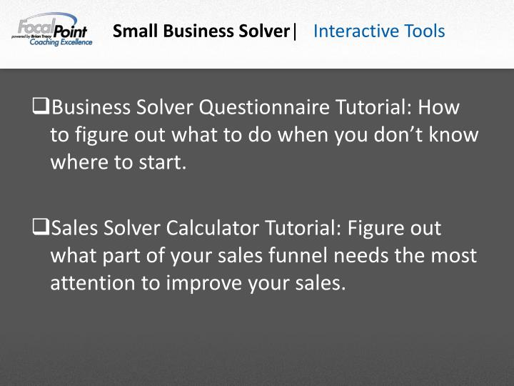 Small Business Solver