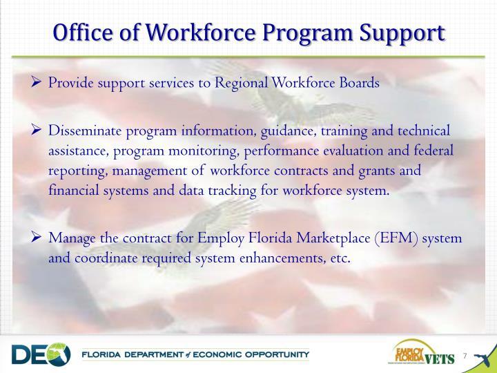 Office of Workforce Program Support