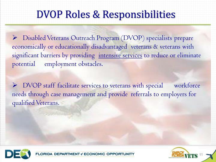 DVOP Roles & Responsibilities