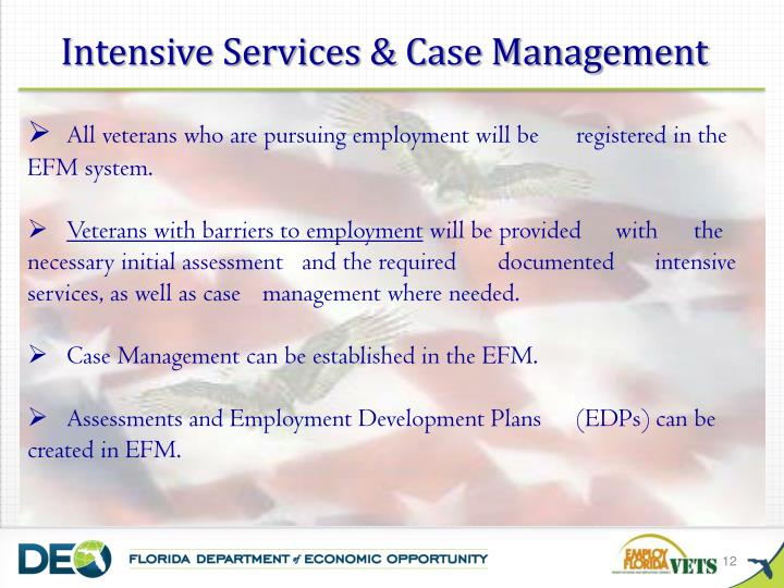 Intensive Services & Case Management