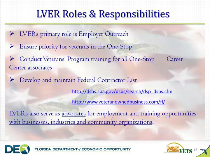 LVER Roles & Responsibilities