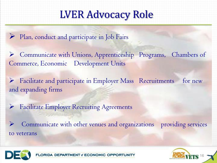 LVER Advocacy Role