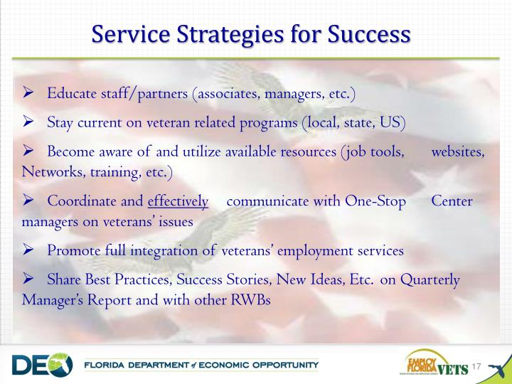 Service Strategies for Success
