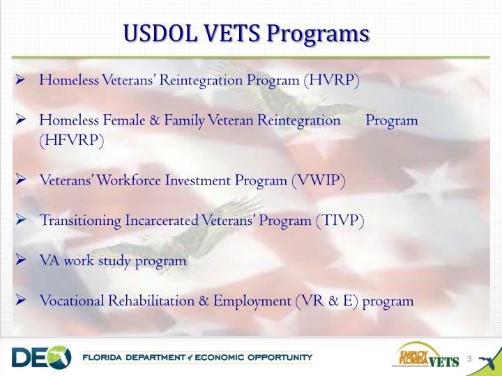 USDOL VETS Programs