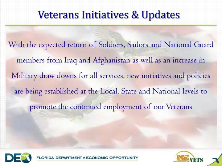 Veterans Initiatives & Updates