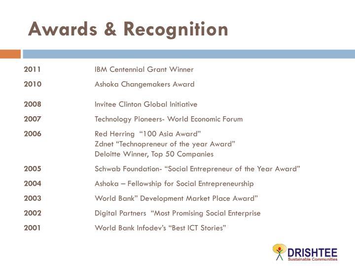 Awards &