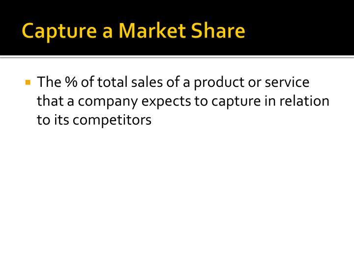Capture a Market Share