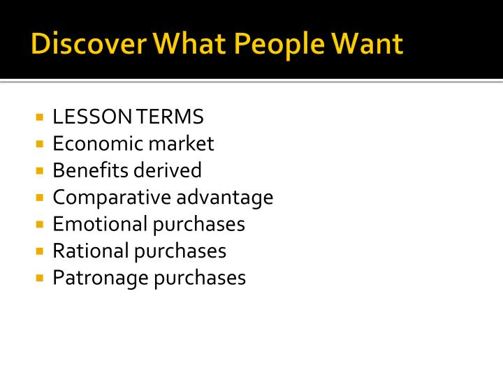 Discover what people want1