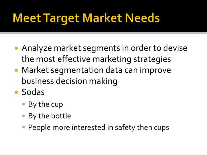 Meet Target Market Needs