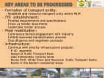key areas to be progressed1
