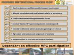 proposed institutional process flow
