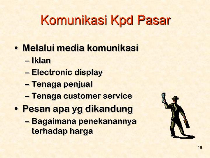 Komunikasi Kpd Pasar