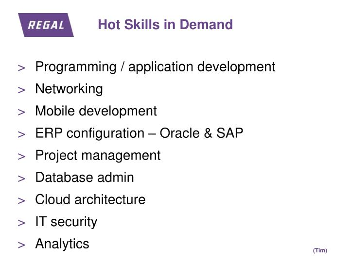 Hot Skills in Demand