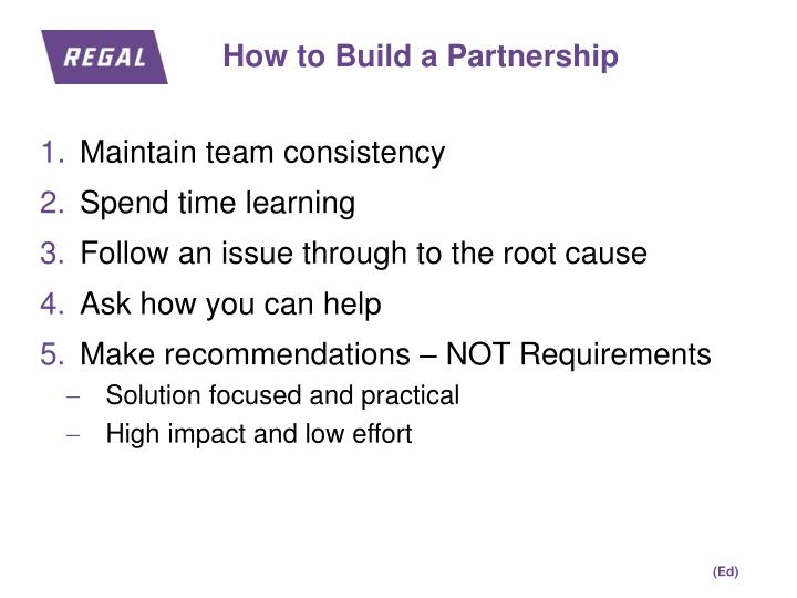 How to Build a Partnership