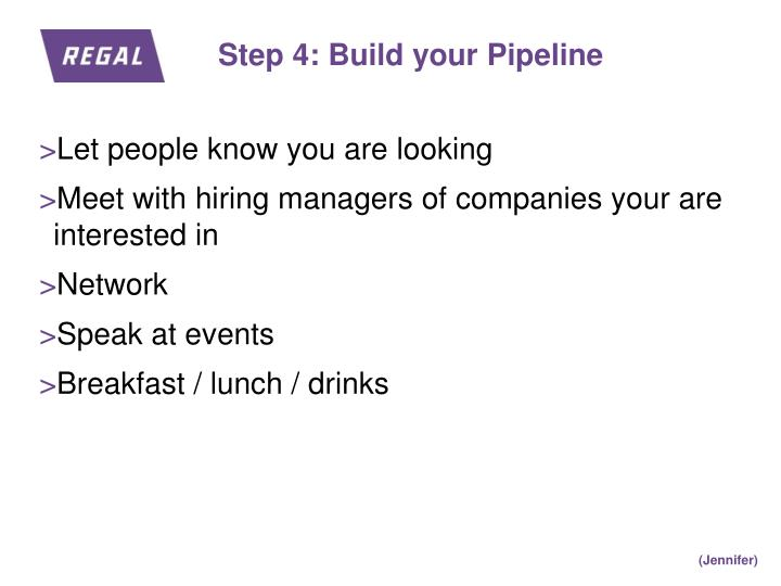 Step 4: Build your Pipeline