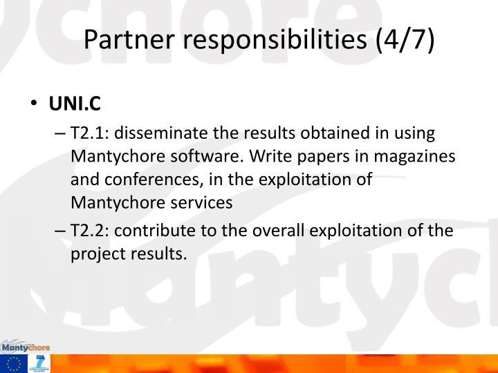 Partner responsibilities (4/7)