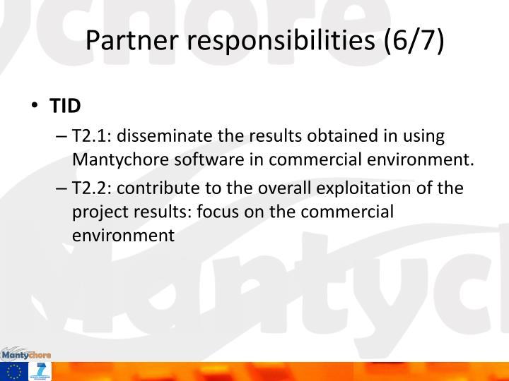 Partner responsibilities (6/7)