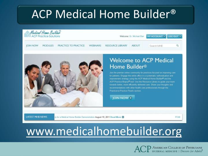 ACP Medical Home Builder®