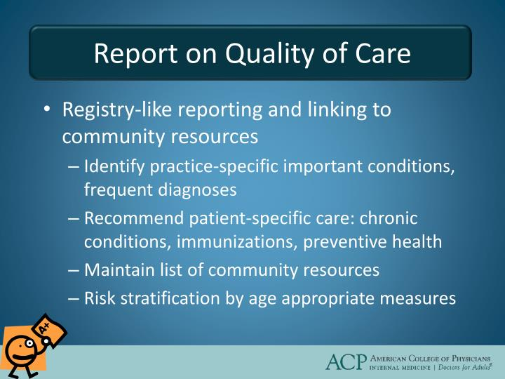Report on Quality of Care