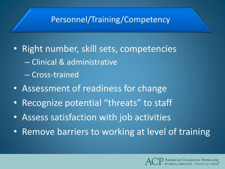 Right number, skill sets, competencies