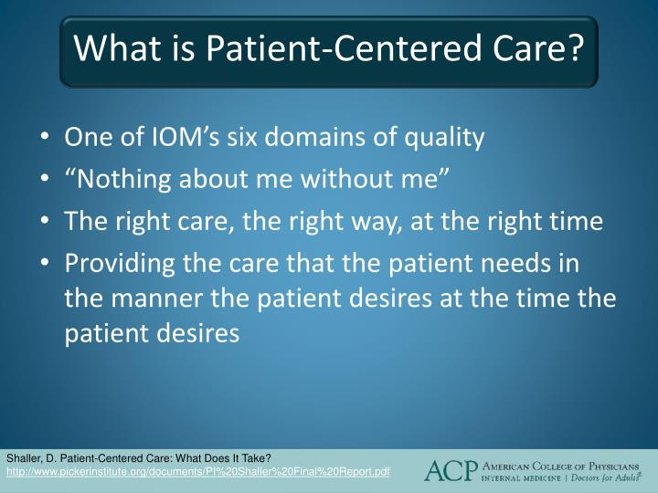 What is Patient-Centered Care?