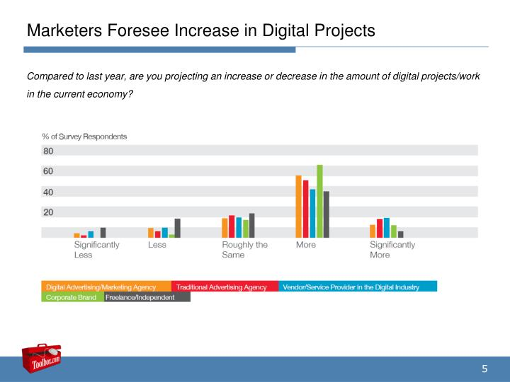 Marketers Foresee Increase in Digital Projects
