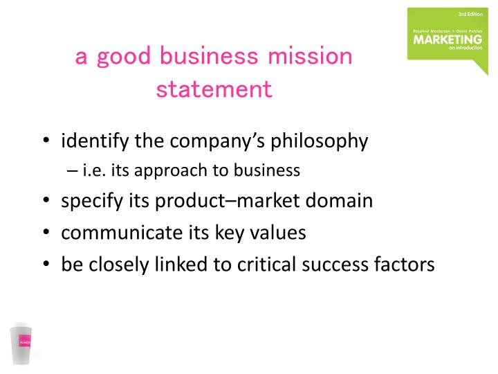 a good business mission statement