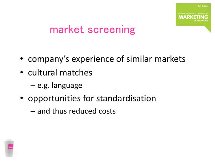 market screening