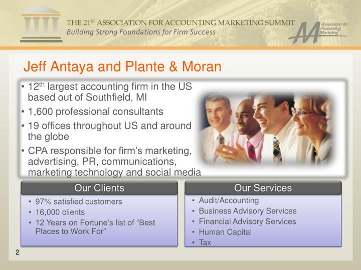 Jeff Antaya and Plante & Moran