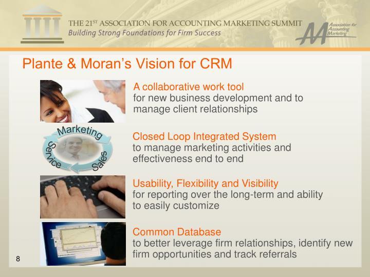 Plante & Moran's Vision for CRM