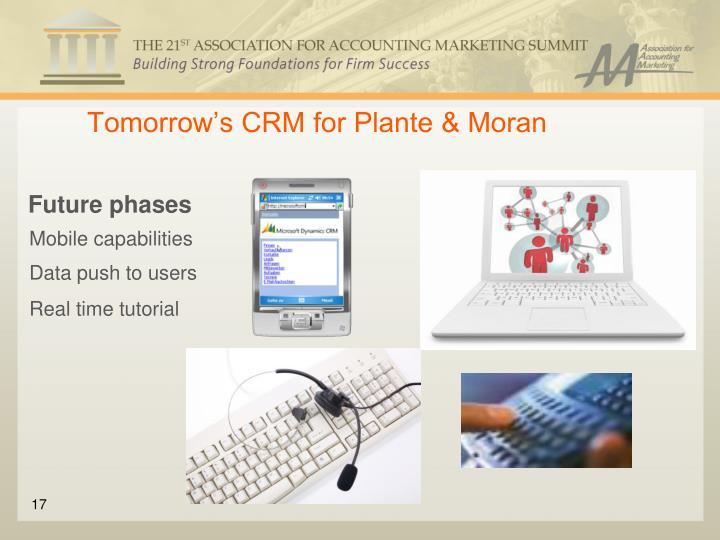 Tomorrow's CRM for Plante & Moran