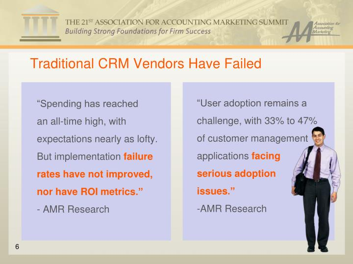 Traditional CRM Vendors Have Failed
