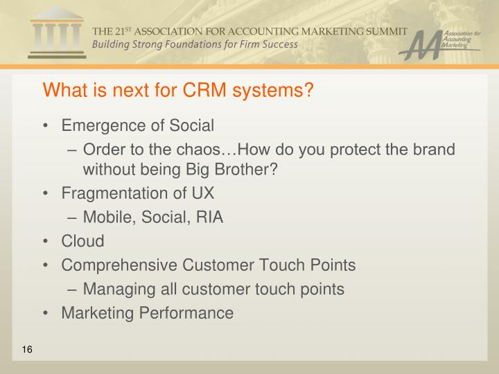What is next for CRM systems?