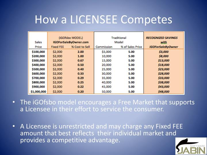 How a LICENSEE Competes