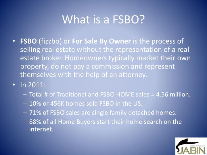 What is a FSBO?