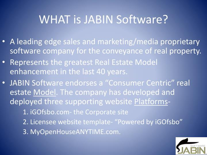 What is jabin software