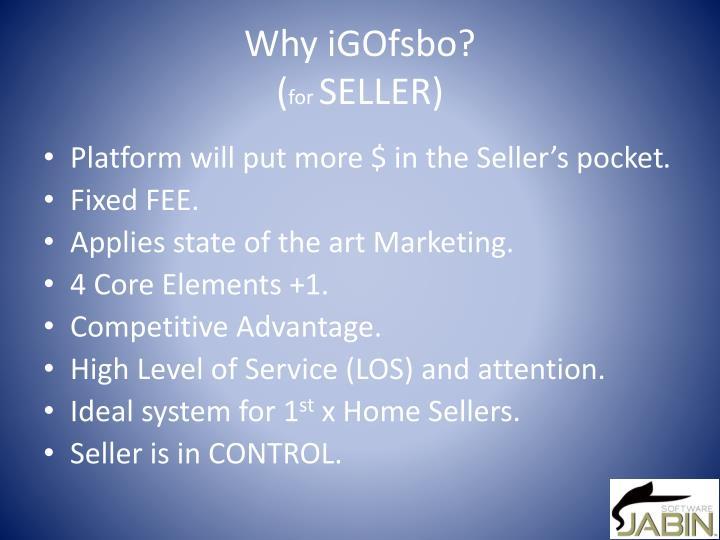 Why iGOfsbo?