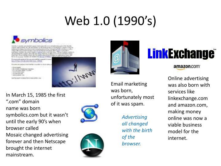 Web 1.0 (1990's)